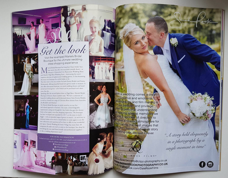 Hannah and Martins wedding in Absolute Bridal Magazine